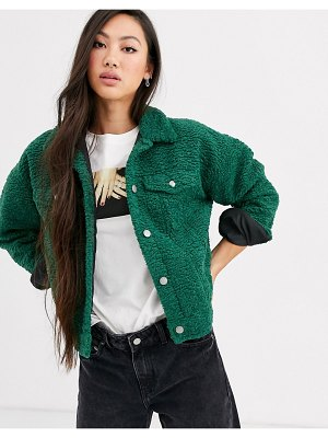 Dr Denim teddy trucker jacket-green