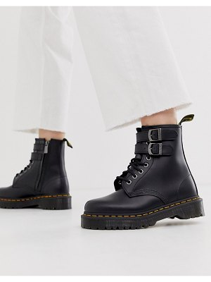Dr Martens 1460 alternative buckle chunky leather boot in black