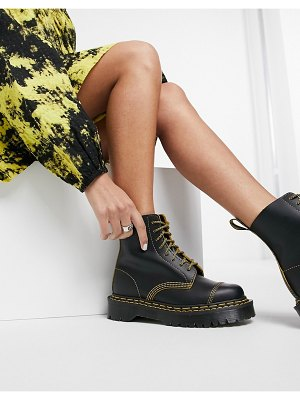 Dr Martens 1460 pascal bex double stitch boots in black