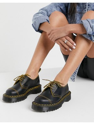 Dr Martens 1461 bex double stitch shoes in black