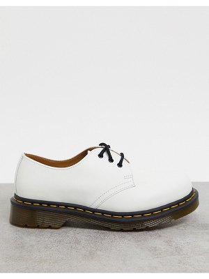 Dr Martens 1461 flat leather shoes in white