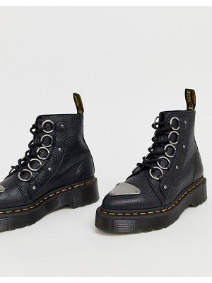 Dr Martens farylle ribbon lace chunky leather boots in black