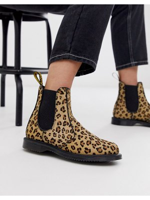 Dr Martens flora chelsea boots in leopard-multi