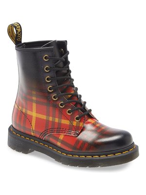 Dr. Martens plaid ombre combat boot