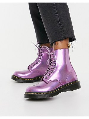 Dr Martens vegan 1460 classic ankle boots in pink prism