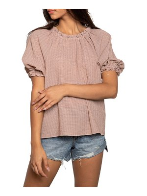 dRA nellie check puff sleeve top