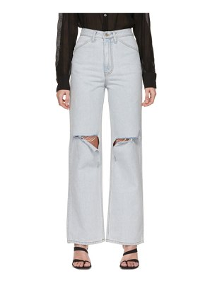 DRAE blue destroyed mid-rise jeans