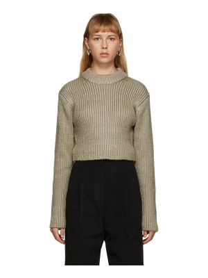 DRAE cropped crewneck sweater