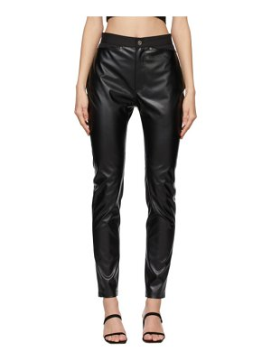 DRAE faux-leather legging trousers