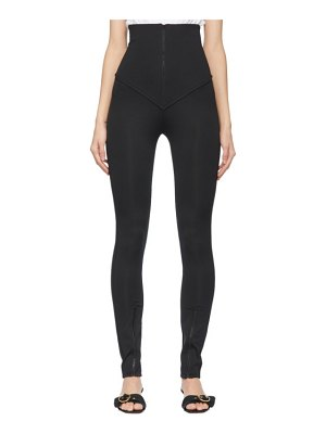 DRAE jersey high-rise zip trousers