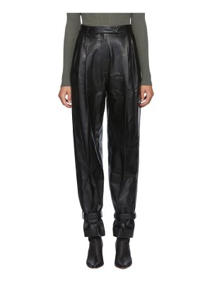 DRAE leather wide trousers