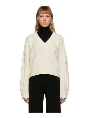 DRAE off-white wool cable knit sweater