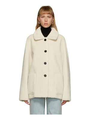 DRAE reversible off-white faux-shearling jacket