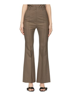 DRAE summer wool bootcut trousers