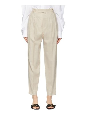 DRAE summer wool tapered trousers