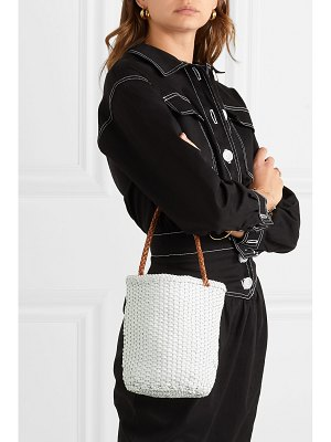 DRAGON DIFFUSION b small woven leather bucket bag