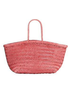 DRAGON DIFFUSION Bamboo Triple Jump Small Woven East-West Tote Bag