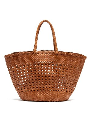 DRAGON DIFFUSION cannage market large woven leather basket bag