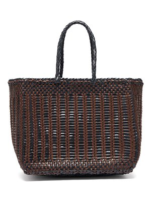 DRAGON DIFFUSION cannage woven leather tote bag