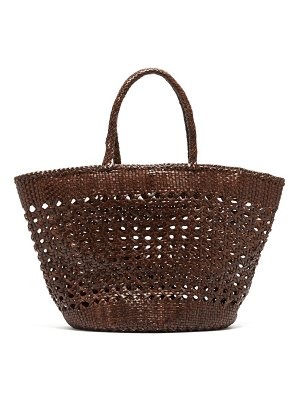 DRAGON DIFFUSION carnage extra large woven leather basket bag