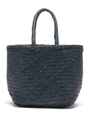 DRAGON DIFFUSION grace double jump small woven-leather tote bag