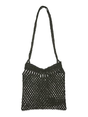 DRAGON DIFFUSION Knotted macramé leather shoulder bag