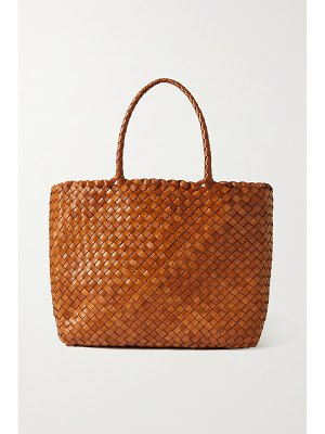 DRAGON DIFFUSION lunch basket woven leather tote