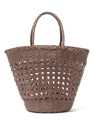 DRAGON DIFFUSION myra woven leather basket bag