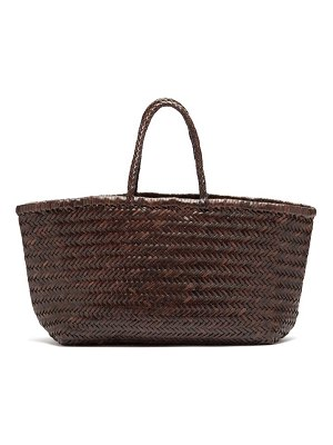 DRAGON DIFFUSION triple jump large woven-leather basket bag