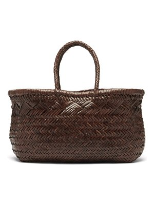 DRAGON DIFFUSION triple jump large woven-leather tote bag