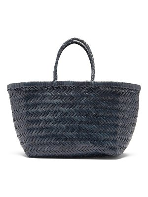 DRAGON DIFFUSION triple jump small woven-leather tote bag