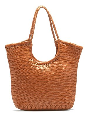 DRAGON DIFFUSION triple jump woven-leather basket bag