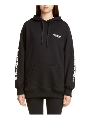 Dreamland Syndicate chain print oversize hoodie