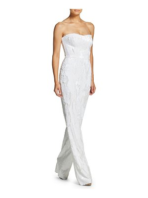 Dress the Population Andy Sequined Strapless Straight-Leg Jumpsuit