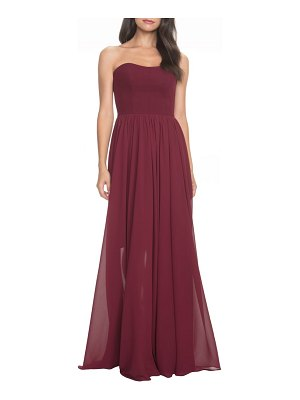 Dress the Population ella strapless crepe chiffon gown