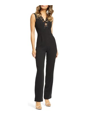Dress the Population emerson plunge jumpsuit