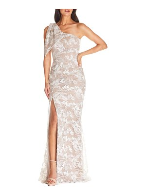 Dress the Population genevieve one-shoulder floral lace gown