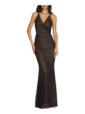 Dress the Population helen lace trumpet gown