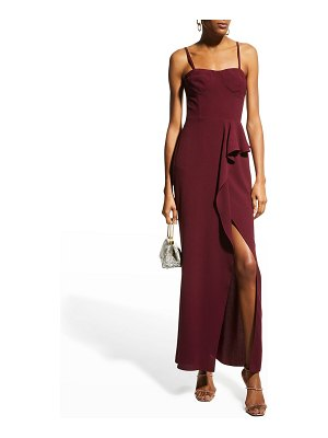 Dress the Population Kai Sweetheart Drape-Front Gown