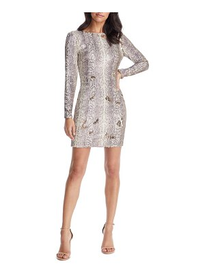 Dress the Population lola long sleeve python sequin minidress