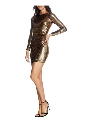 Dress the Population lolita sequin long sleeve minidress