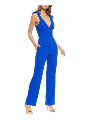 Dress the Population maira tie shoulder crepe jumpsuit