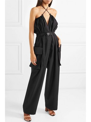 Dries Van Noten belted cotton and wool-blend twill jumpsuit