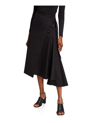 Dries Van Noten Buckled-Side Midi Skirt