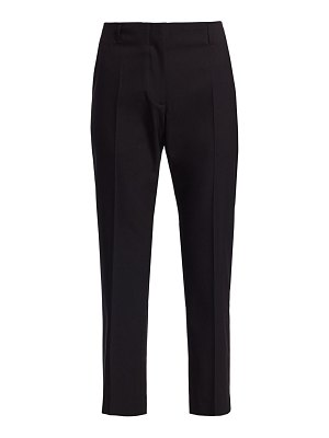 Dries Van Noten cropped stretch cotton & wool trousers