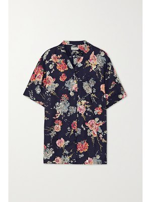 Dries Van Noten embellished floral-print twill blouse