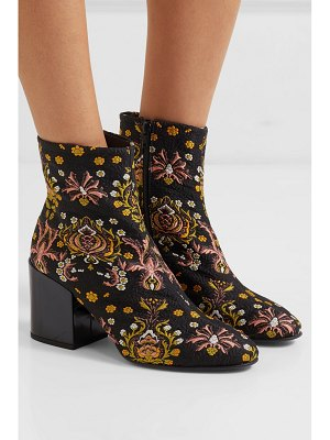 Dries Van Noten floral-jacquard ankle boots