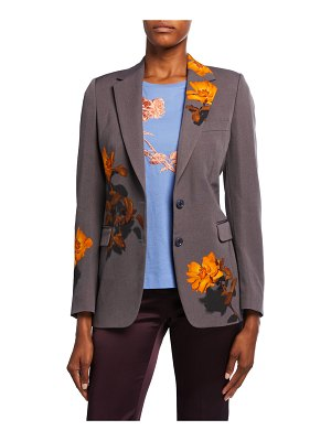 Dries Van Noten Floral-Print Blazer Jacket