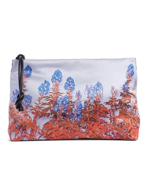 Dries Van Noten floral print satin clutch