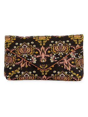 Dries Van Noten Jacquard Envelope Clutch Bag